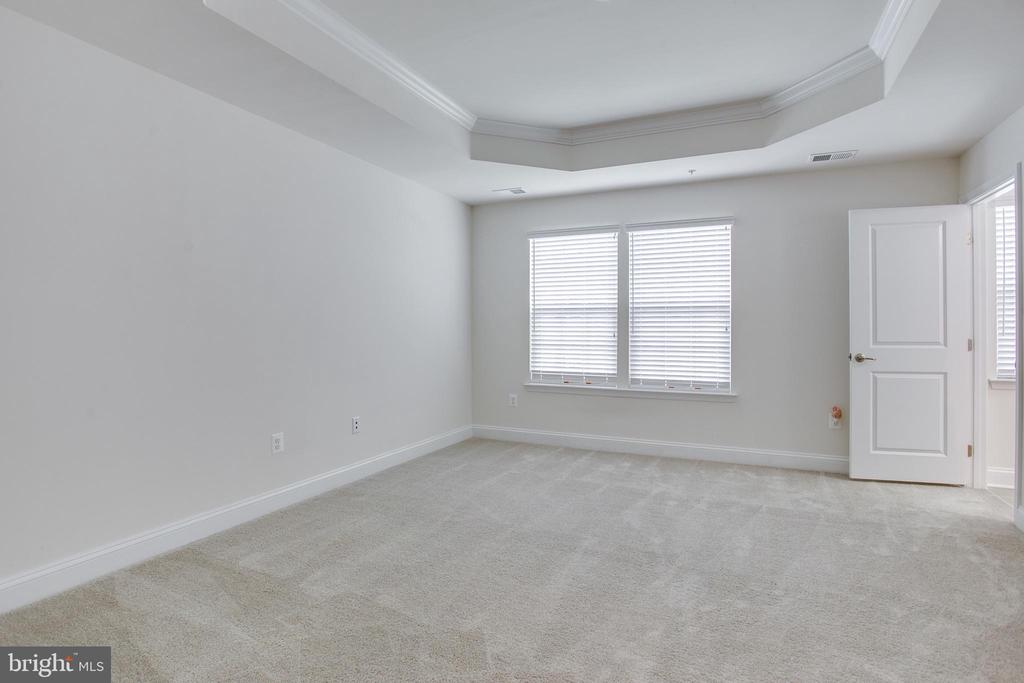 Master bedroom featuring upgraded tray ceiling... - 4846 HITESHOW DR, FREDERICK