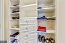 One of three master closets - 4924 BUTTERWORTH PL NW, WASHINGTON
