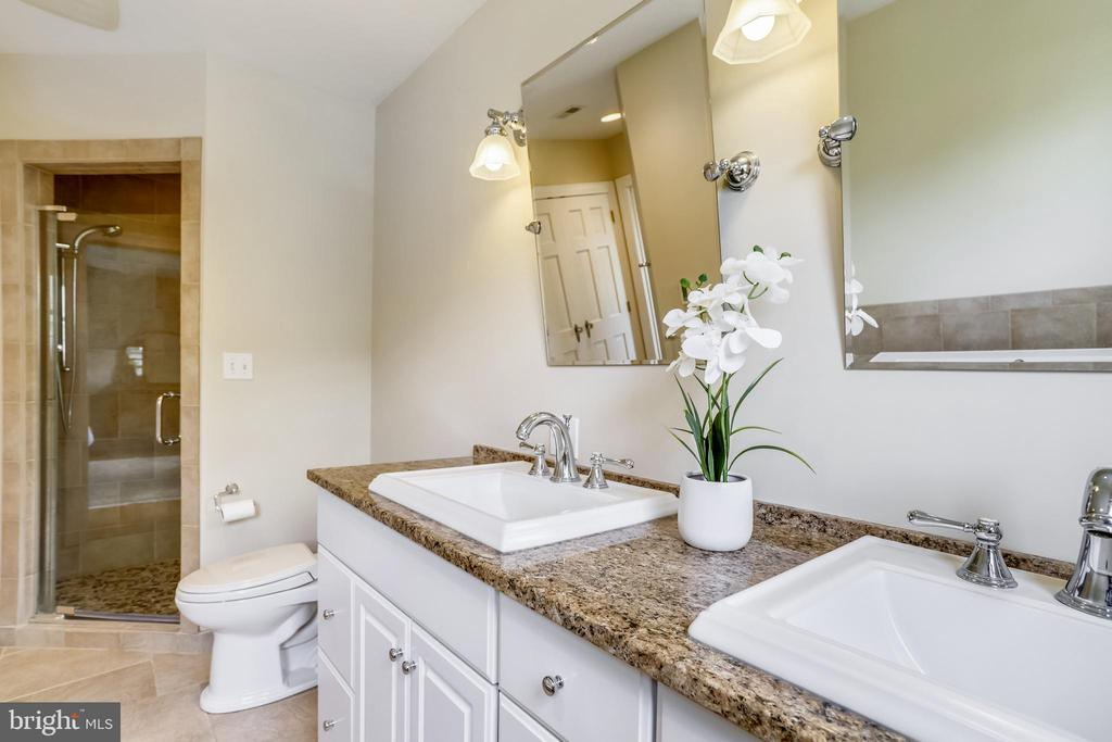 Separate walk-in shower and a Toto to boot - 4924 BUTTERWORTH PL NW, WASHINGTON