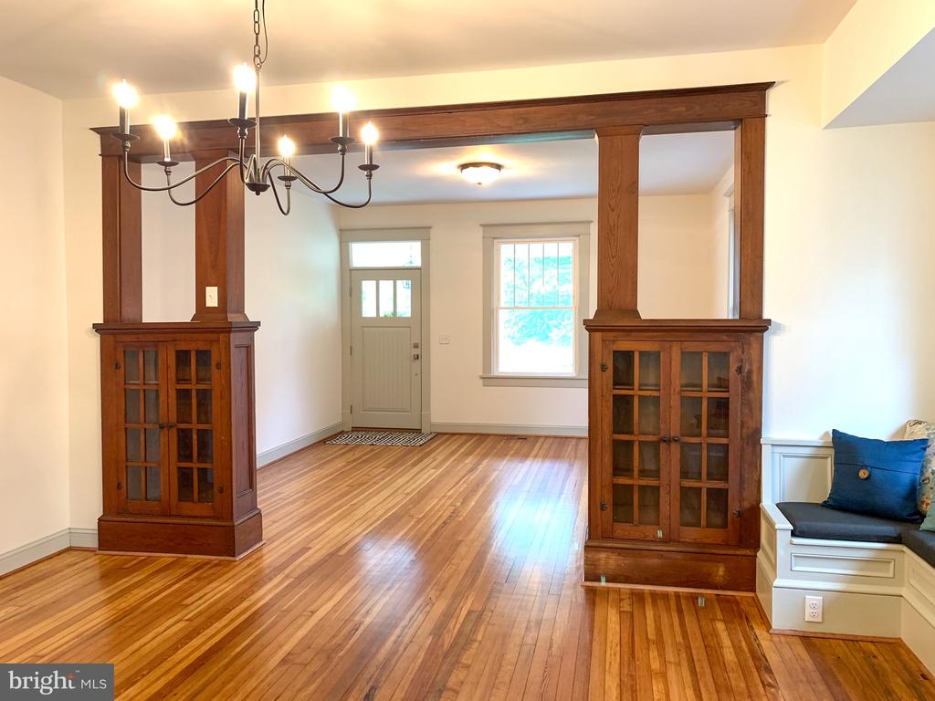 View of the living room and dining room - 3630 PETERSVILLE RD, KNOXVILLE