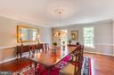Spacious dining area - 17072 SILVER CHARM PL, LEESBURG