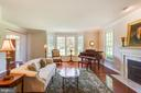 Formal living room with fireplace - 17072 SILVER CHARM PL, LEESBURG
