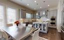 Breakfast or project table by Kitchen - 2327 DALE DR, FALLS CHURCH