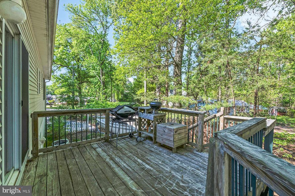 A second deck off the kitchen holds the BBQ - 1218 WASHINGTON DR, ANNAPOLIS