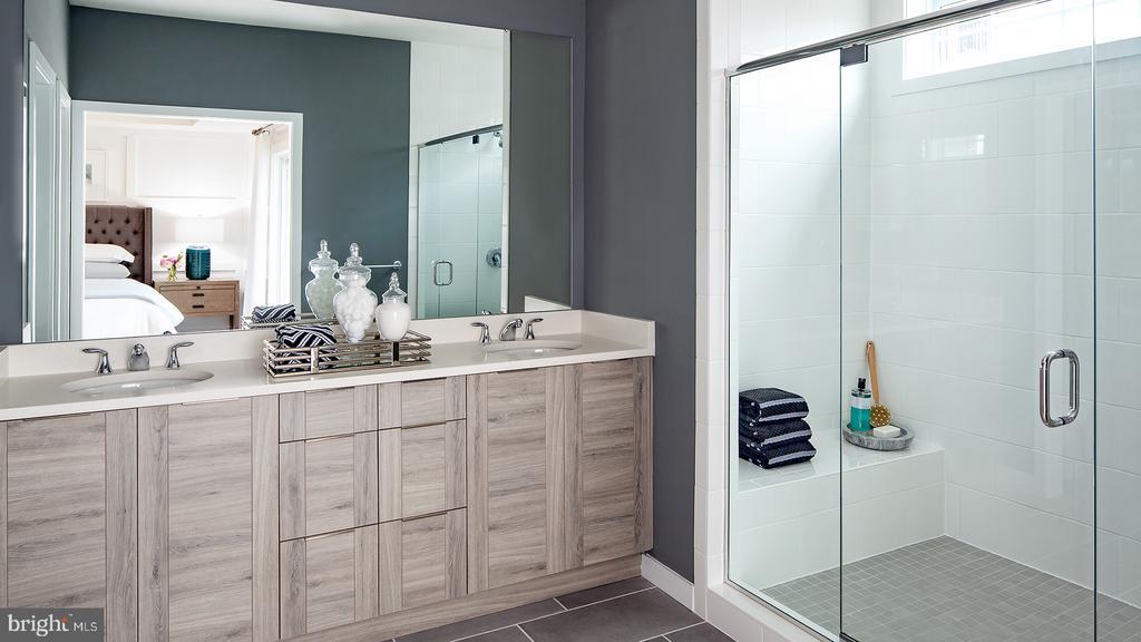 Hayes Contemporary Master Bathroom - 43193 MONGOLD SQ, ASHBURN