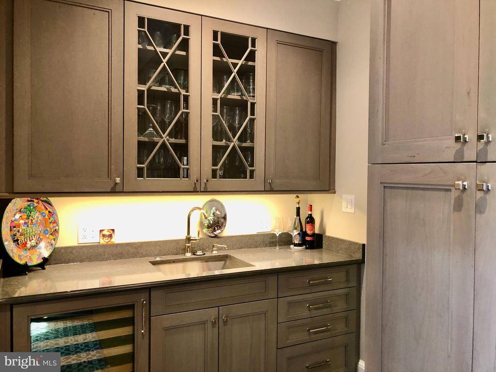 Wet bar and pantry storage area - 412 WOLFE ST, ALEXANDRIA