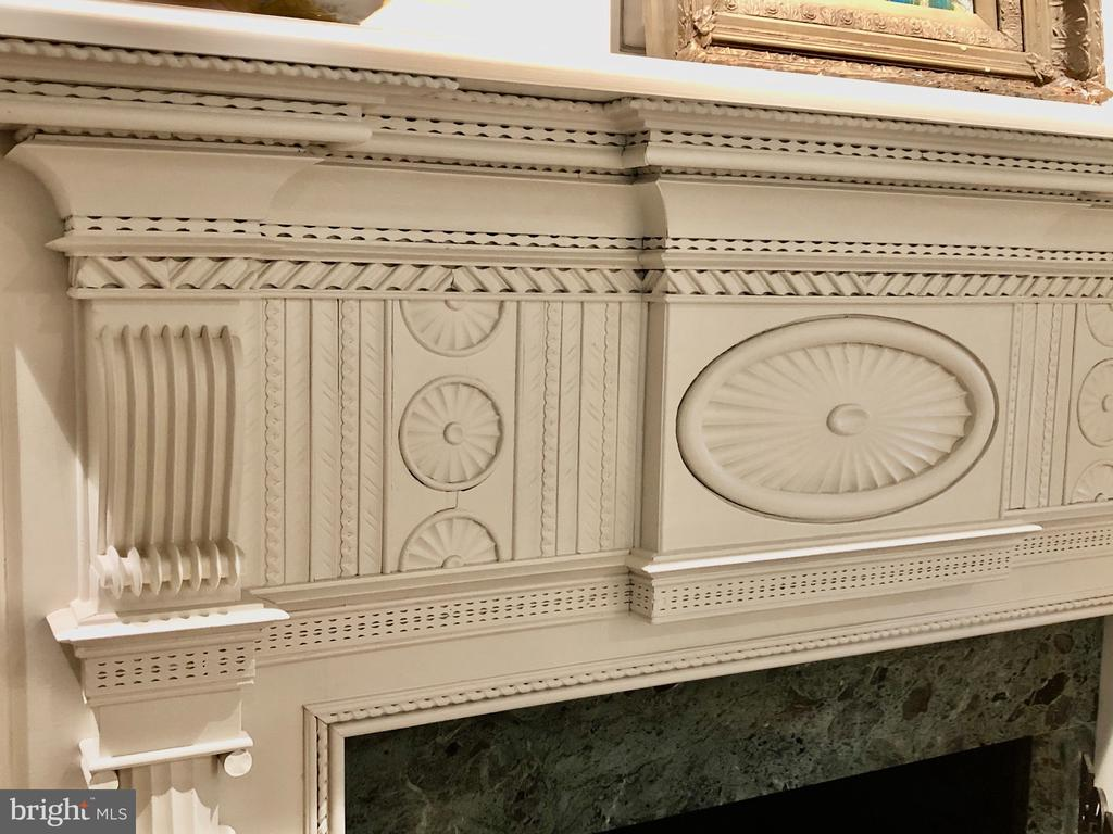Living Room Fireplace detail - 412 WOLFE ST, ALEXANDRIA