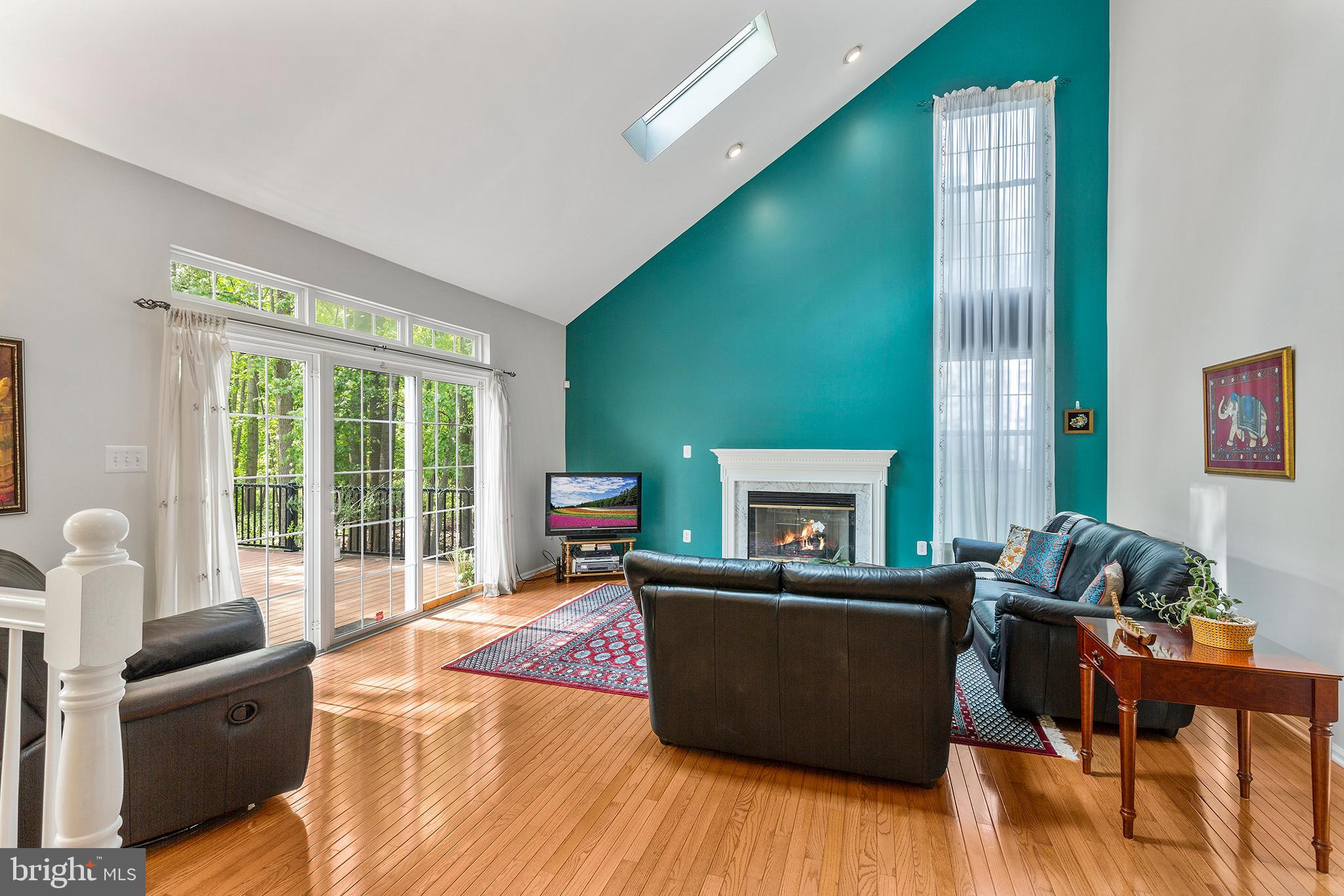 Family Room with sliding door to the deck