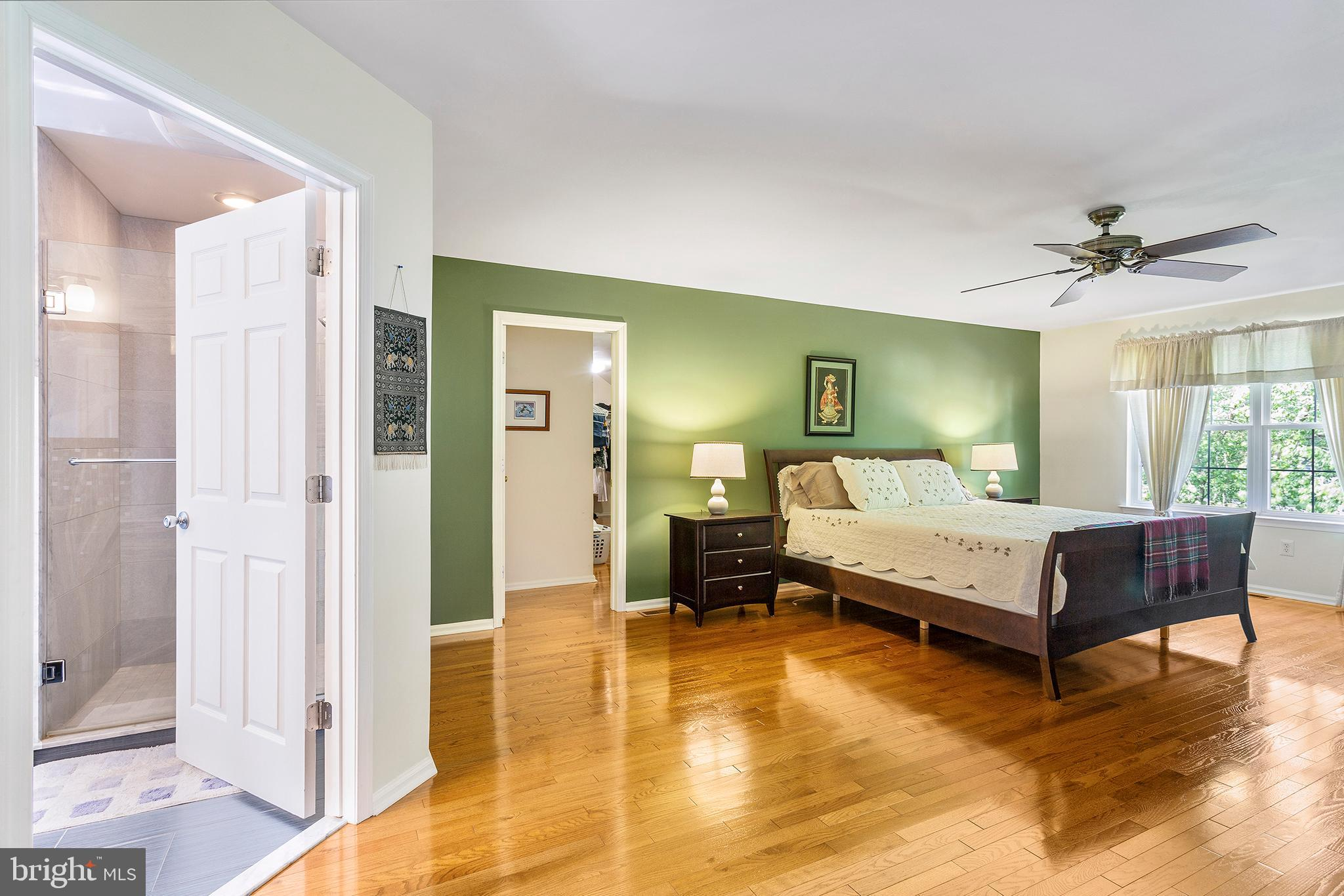 Master Bedroom with private bath and dressing room