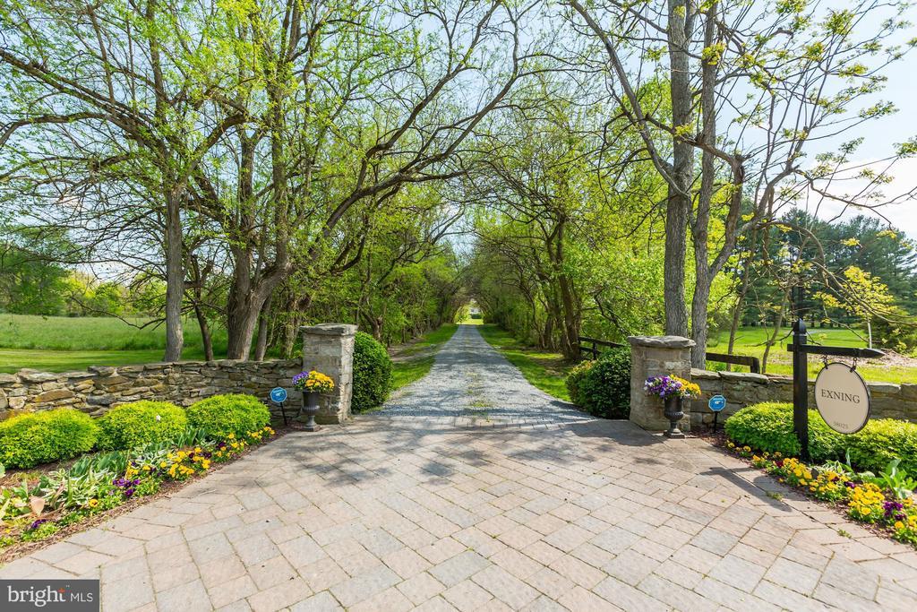 Seasonal gardens, stone pillars & tree lined lane - 38025 JOHN MOSBY HWY, MIDDLEBURG