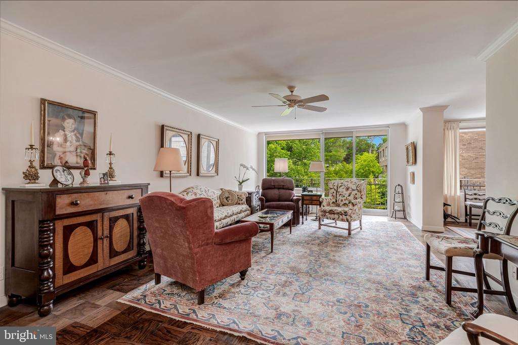 Gracious Living Room with beautiful views - 4100 CATHEDRAL AVE NW #810, WASHINGTON