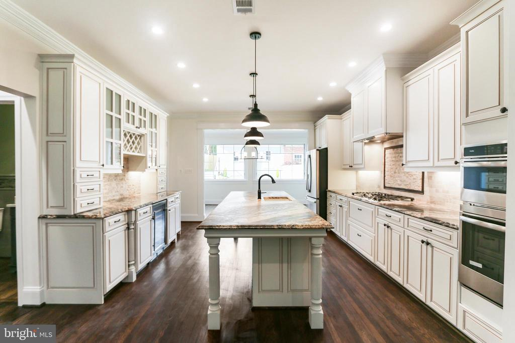Gourmet Kitchen, huge island custom cabinets - 2705 WOODLEY RD NW, WASHINGTON