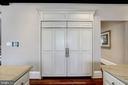 cabinet front side by side SubZero fridge, freezer - 6537 36TH ST N, ARLINGTON