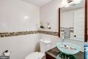 Half bath is beautifully updated - 5508 KENDRICK LN, BURKE
