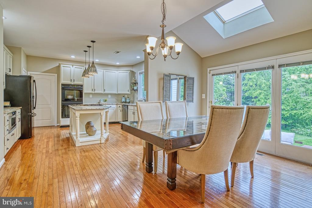 Dining Area with Gorgeous Backyard Views - 1321 GATESMEADOW WAY, RESTON