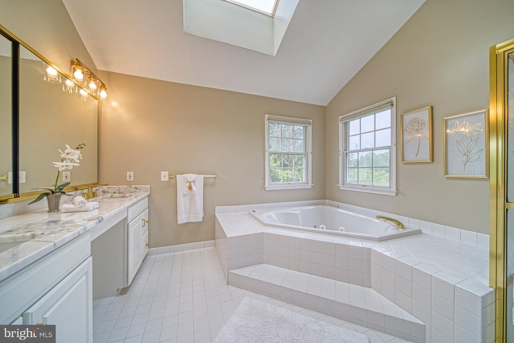Master Bath -Quartzite Counters, Modern Fixtures - 1321 GATESMEADOW WAY, RESTON