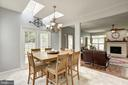 Kitchen Dining Area with Skylights - 4811 WALNEY KNOLL CT, CHANTILLY