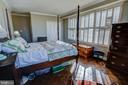 main bedroom with shutters - 3900 NW WATSON PL NW #A-7C, WASHINGTON