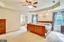 Master bedroom with tray ceiling - 5262 MAITLAND TER, FREDERICK