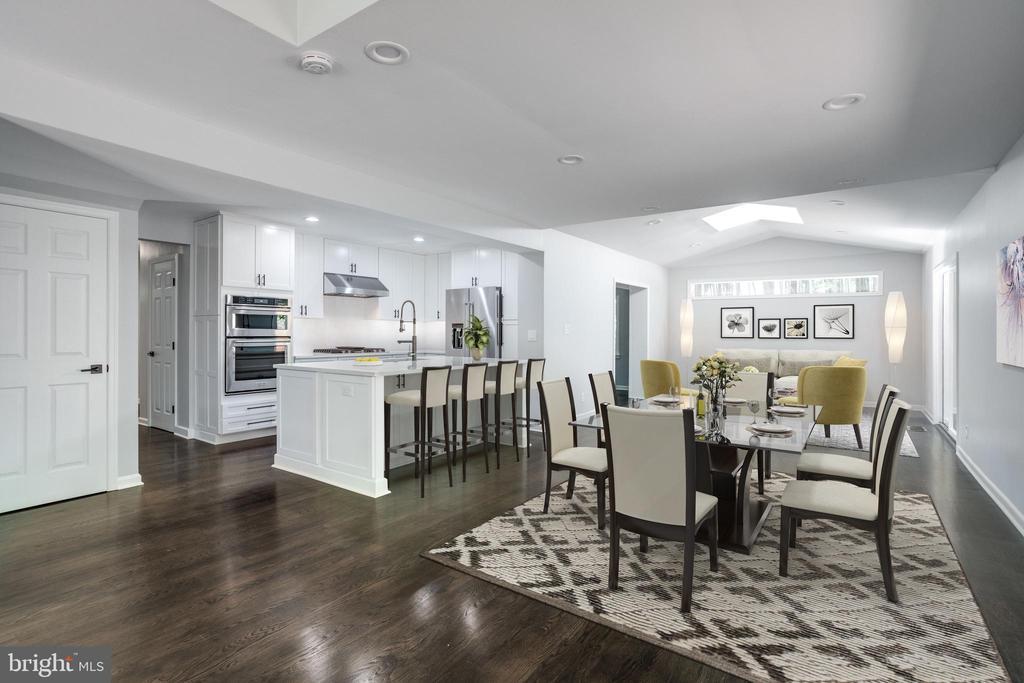 Great Room/Breakfast Room - Virtually Staged - 5125 37TH ST N, ARLINGTON