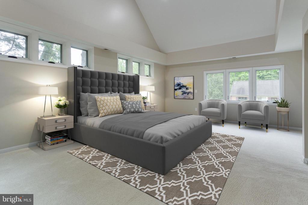Master Bedroom - Virtually Staged - 5125 37TH ST N, ARLINGTON