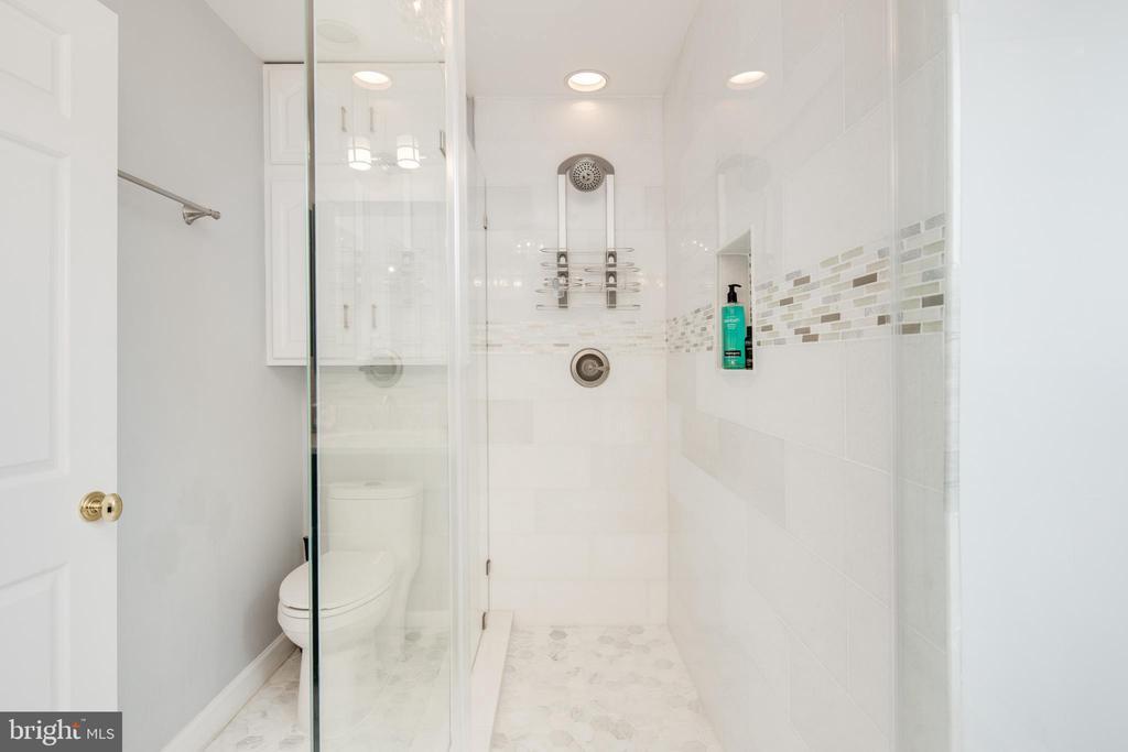 Master Bath shower - 10106 WINDY KNOLL LN, VIENNA