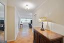 Foyer leads to living room, bedrooms on left - 5500 FRIENDSHIP BLVD #1616N, CHEVY CHASE