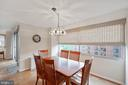 Separate dining room with a view - 5500 FRIENDSHIP BLVD #1616N, CHEVY CHASE