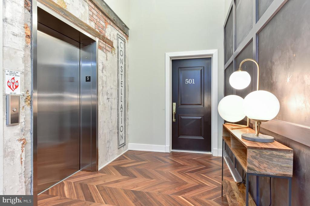 Hallway to the Entry - 1402 H ST NE #501, WASHINGTON