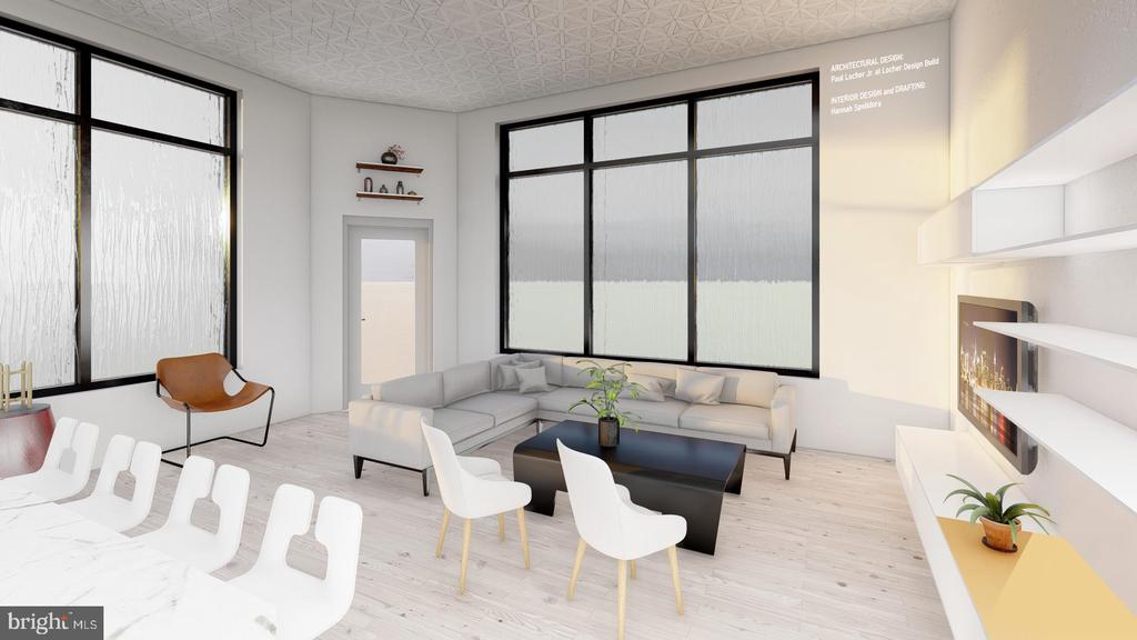 Design Concept 2 - North and East Interior View - 1314 21ST ST NW #1, WASHINGTON