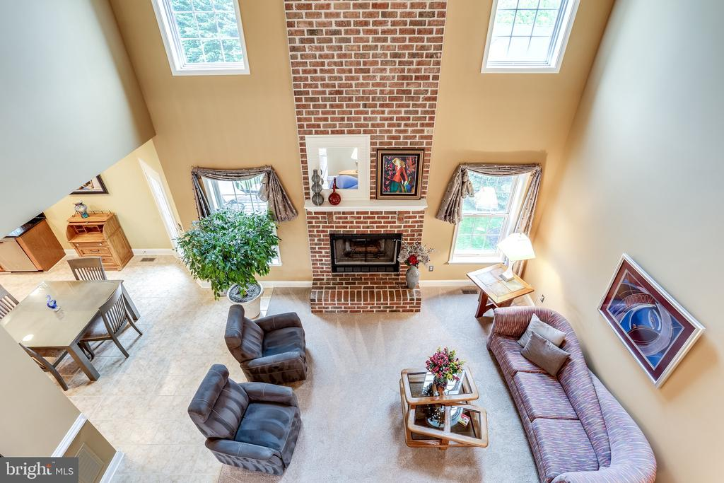 View from Second Floor to Family Room - 2112 CHAUCER WAY, WOODSTOCK