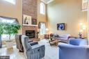 Family Room and Brick Fireplace - 2112 CHAUCER WAY, WOODSTOCK