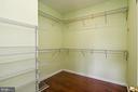 Master ebdroom closet - 6100 PINTO PL, SPRINGFIELD