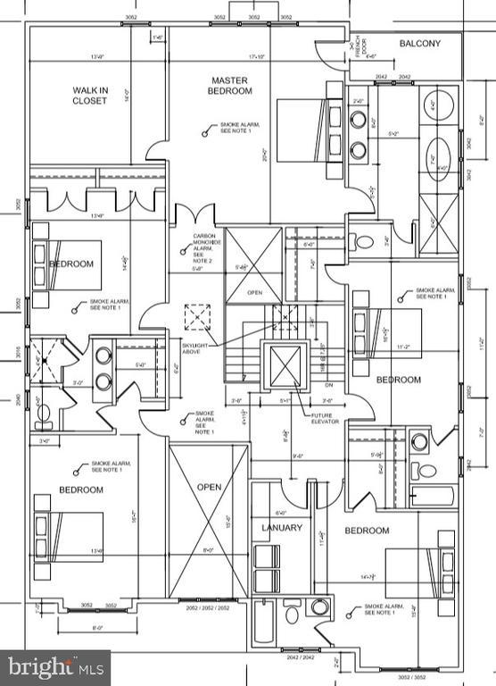 upper level floor plan - 7627 LISLE AVE, FALLS CHURCH