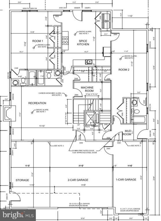 lower level floor plan - 7627 LISLE AVE, FALLS CHURCH