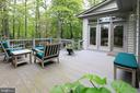 TREX deck for outdoor entertaining - 11331 BRIGHT POND LN, RESTON