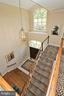 Architecturally interesting foyer and stairs - 11331 BRIGHT POND LN, RESTON
