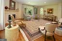 Spacious living room with wooded views - 11331 BRIGHT POND LN, RESTON