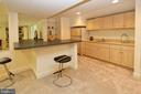 Large wet bar with refrigerator in rec room - 11331 BRIGHT POND LN, RESTON