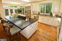 Granite countertops with honed finish on island - 11331 BRIGHT POND LN, RESTON