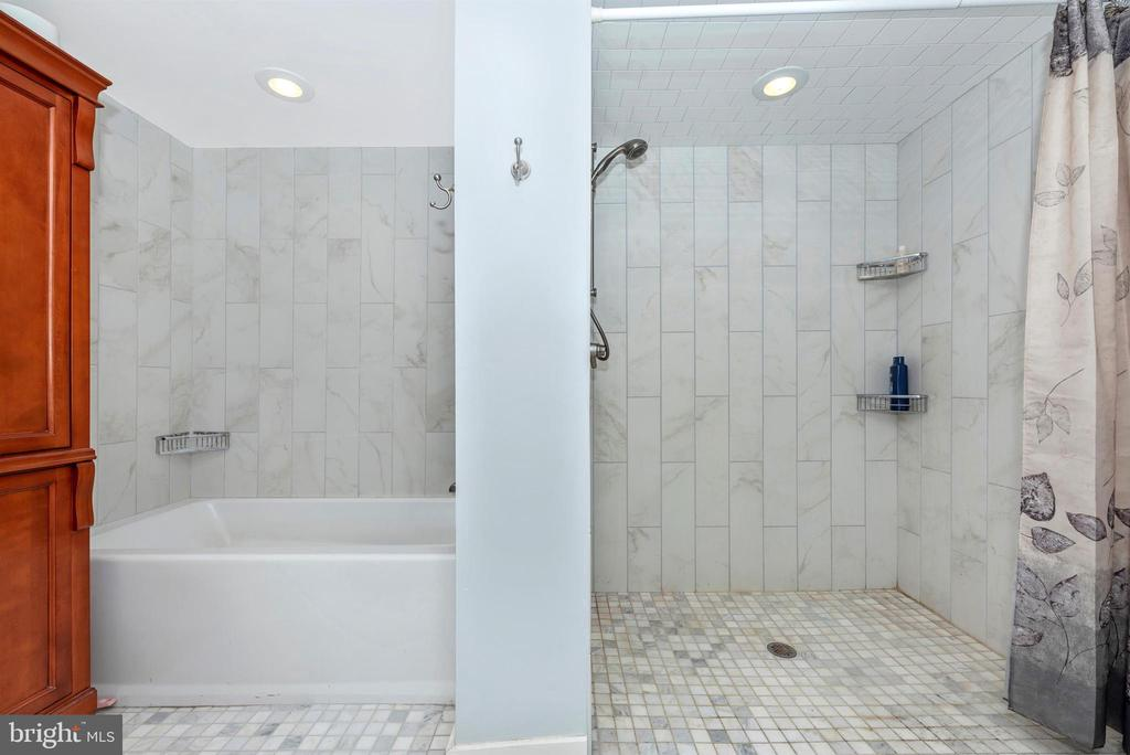 Master Bath on LL has Separate Shower - 3001 GILLIS FALLS RD, MOUNT AIRY