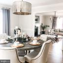 Dining room.  New lightt fixture. - 37175 ADAMS GREEN LN, MIDDLEBURG