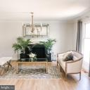 Living room, new light fixture. - 37175 ADAMS GREEN LN, MIDDLEBURG