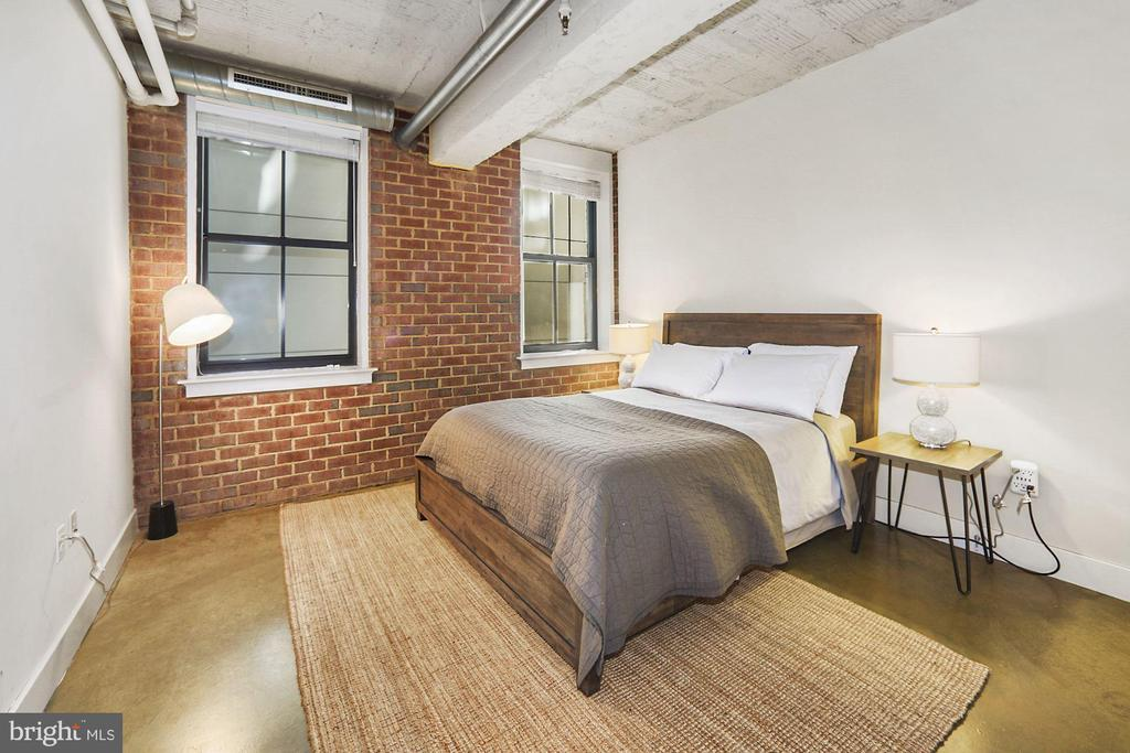 2nd large bedroom with exposed brick wall - 916 G ST NW #401, WASHINGTON