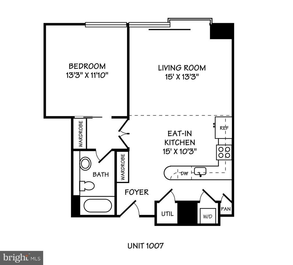 Floor Plan - 920 I ST NW #1007, WASHINGTON