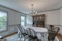 Dining room with crown, chair and box moldings. - 14 STEEPLECHASE RD, FREDERICKSBURG