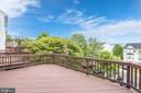 Enjoy a private, tree-line view from the deck! - 5266 BALLYCASTLE CIR, ALEXANDRIA