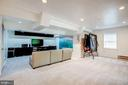 Lower level rec room w/cabinetry that conveys - 11012 BURYWOOD LN, RESTON