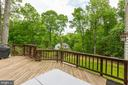 Expansive deck with sunken hot tub - 11012 BURYWOOD LN, RESTON