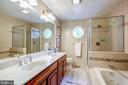 Master bath with dual vanities - 11012 BURYWOOD LN, RESTON